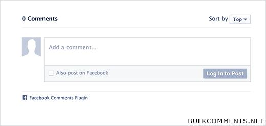 Facebook comments system
